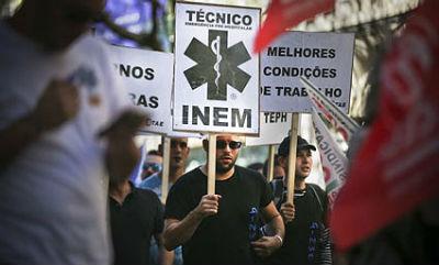 TRABALHADORES DO INEM MARCAM PROTESTO PARA 7 DE ABRIL