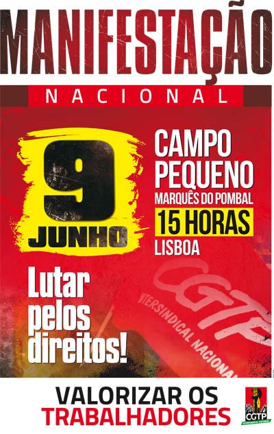 MANIFESTAÇÃO NACIONAL - 9 DE JUNHO - CAMPO GRANDE - MARQUÊS DE POMBAL